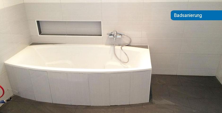 Badsanierung inklusive Wanne und Verfliesung