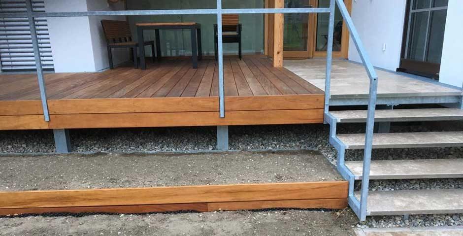 Terrassengestaltung mit Holz, Robert Grassler Bau Niederösterreich