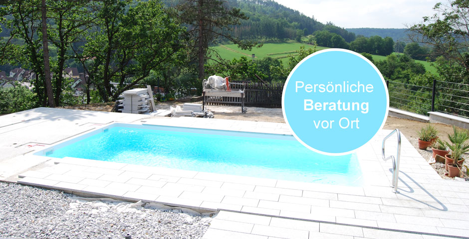Swimming Pool Bau mit persönlicher Beratung