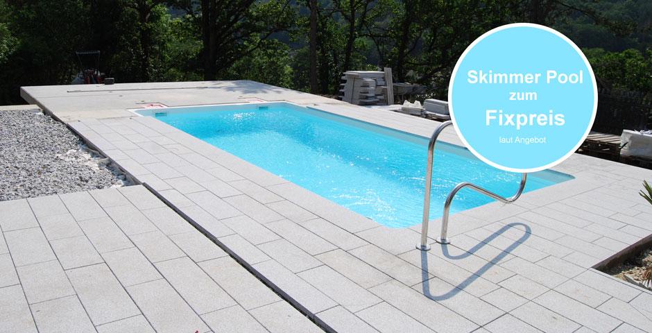Fixpreis-Angebot Skimmerpool mit Granitumrandung